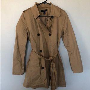 Tan short trench coat